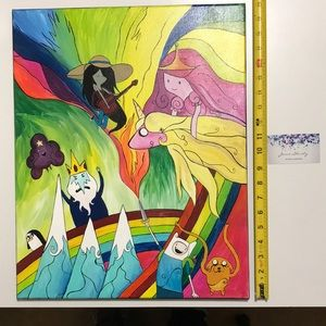 Adventure Time acrylic painting